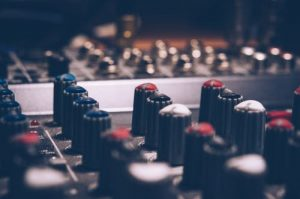 Home studio mixing board